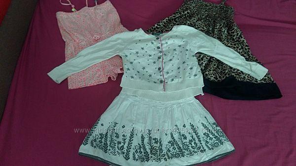 Девочке пакет одежды на 4-6 лет лето Замеры и описание