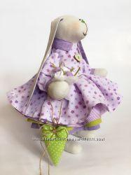 Пасхальная Зайка тильда оригинальный подарок на свадьбу день рождения дочке