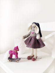 Подарочный набор Зайка с лошадкой интерьерная игрушка детям девушке подруге