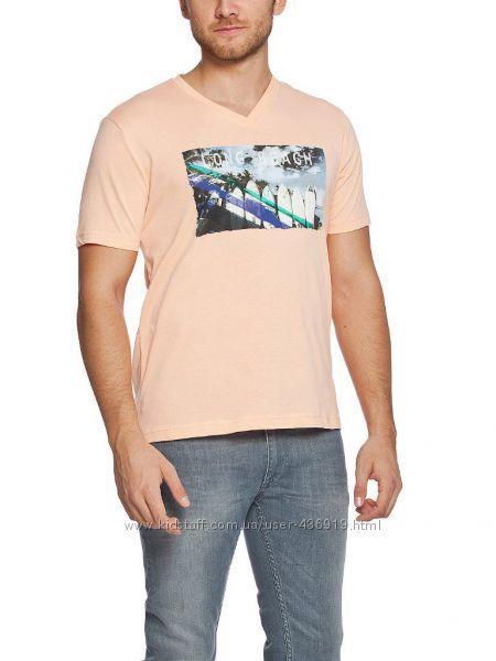 мужская футболка LC Waikiki персикового цвета Long beach