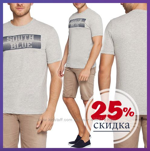 мужская футболка LC Waikiki светло-серого цвета South blue