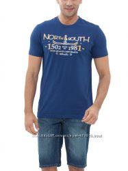 фирменное мужская футболка LC Waikiki синего цвета North south