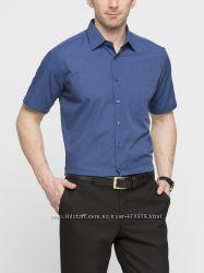 мужская рубашка с коротким рукавом LC WAIKIKI синего цвета