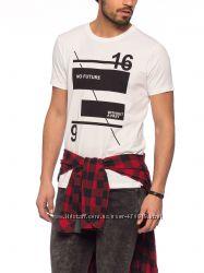 фирменная белоснежная мужская футболка LC Waikiki с надписью No future