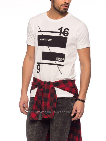 белоснежная мужская футболка LC Waikiki с надписью No future