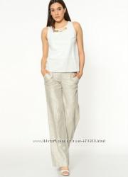 фирменные серебристые женские брюки GIZIA размер 42 L-XL