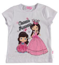 белая футболка для девочки LC Waikiki с двумя принцесами