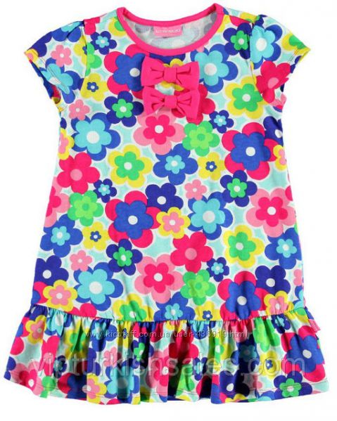 футболка для девочки LC Waikiki в разноцветные цветочки