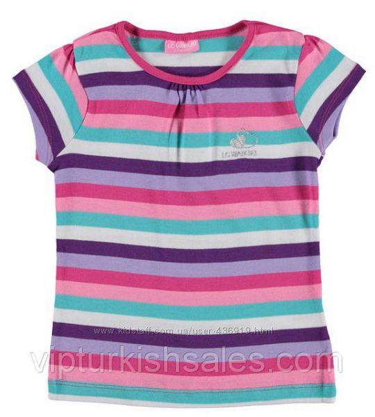футболка для девочки LC Waikiki в разноцветные полоски