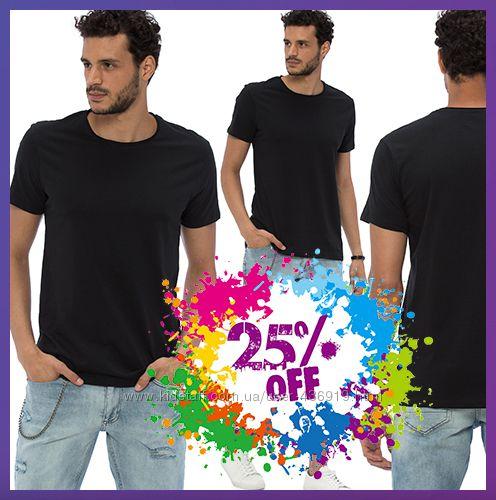 черная мужская футболка LC Waikiki