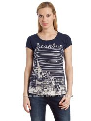 Синяя женская футболка LC Waikiki  ЛС Вайкики с надписью Istanbul