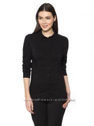 черная женская рубашка LC Waikiki  ЛС Вайкики на пуговицах