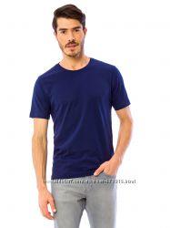 синяя мужская футболка LC Waikiki с круглым вырезом