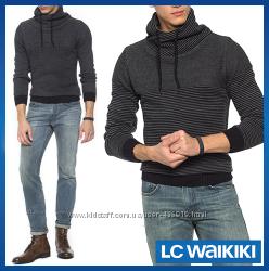 Серый мужской свитер LC Waikiki  ЛС Вайкики с воротником-хомут