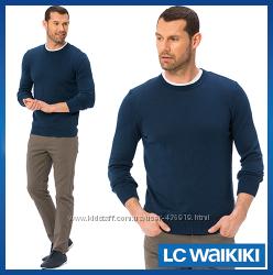 синий мужской свитер LC Waikiki  ЛС Вайкики с круглой горловиной