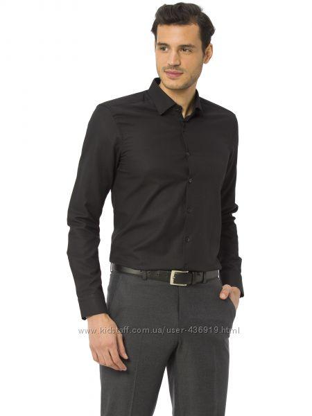 мужская рубашка черная LC Waikiki  ЛС Вайкики на черных пуговицах с длинны