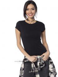 черная женская футболка Lc Waikiki  Лс Вайкики с круглым вырезом