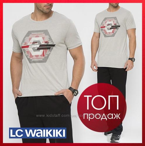 cерая мужская футболка Lc Waikiki с надписью Think cool be cool