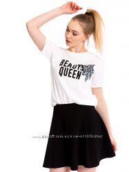 женская футболка белая Lc Waikiki  Лс Вайкики Beauty Queen