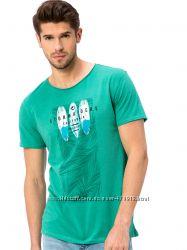 зеленая мужская футболка Lc Waikiki с надписью Storm Rides California