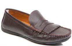 коричневые мужские мокасины 42, 43 р. Deristudio - фирменная Турция. 804