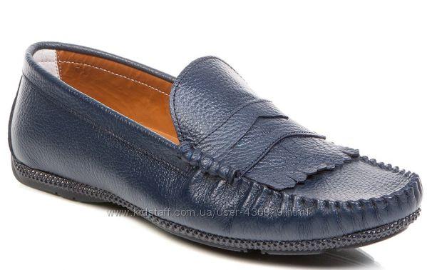 мужские мокасины темно-синего цвета 42р. Deristudio - фирменная Турция. 805