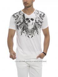 мужская футболка белая Lc Waikiki  Лс Вайкики с черепом на груди