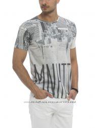 мужская футболка белая Lc Waikiki  Лс Вайкики с надписью Manhattan