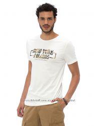 мужская футболка белая Lc Waikiki  Лс Вайкики с надписью New York falcons