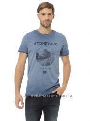 мужская футболка синяя Lc Waikiki  Лс Вайкики с надписью Stoneyard
