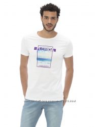 мужская футболка белая Lc Waikiki  Лс Вайкики с надписью Florida