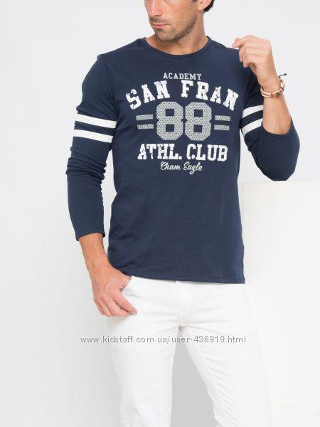 мужской реглан синий LC Waikiki с надписью San Fran 88 Athl. Club