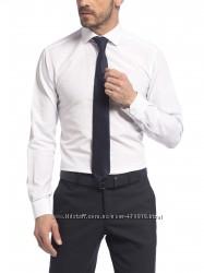 мужская рубашка белая LC Waikiki  ЛС Вайкики в синюю точку