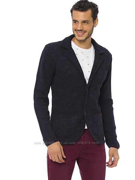 мужской пиджак LC Waikiki меланжевый c 3-мя накладными карманами