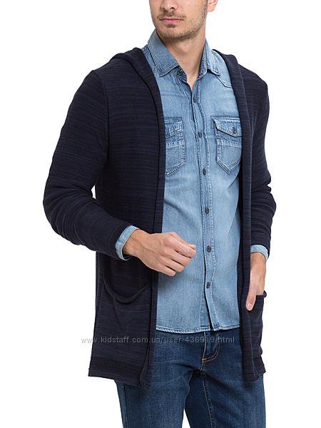мужская мантия с LC Waikiki синяя, с накладными карманами и капюшоном