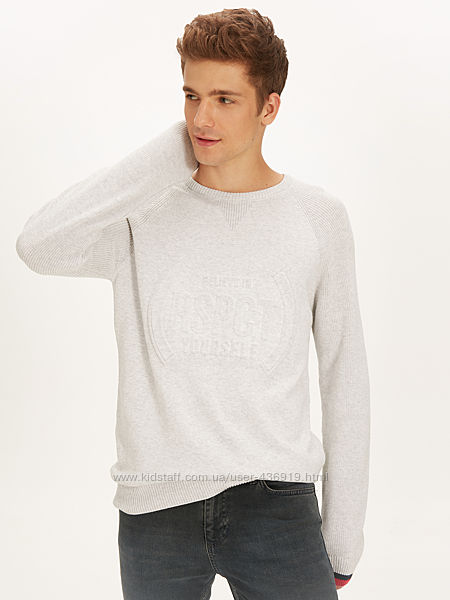 серый мужской свитер LC Waikiki Believe in RSPCT yourself