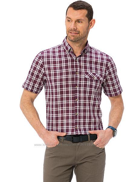 бордовая мужская рубашка LC Waikiki в белую клетку, с карманами на груди