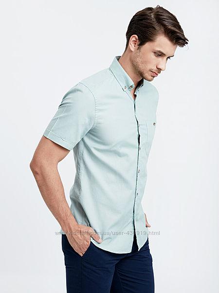 мужская рубашка LC Waikiki с карманом на груди, светло-зеленого цвета