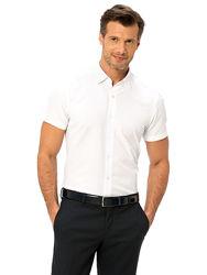 белая мужская рубашка LC Waikiki / ЛС Вайкики с коротким рукавом