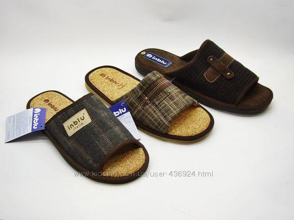 Мужские тапочки ТМ Inblu Инблу с открытым носком