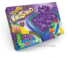 Набор кинетический песок KidSand 1600 г с песочницей