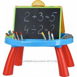 Мольберт двухсторонний напольный  столик для рисования мелом и маркерами