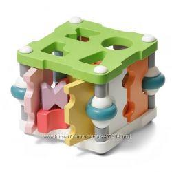 Интересный развивающий сортер квадратный 11612 Cubika деревянная игрушка