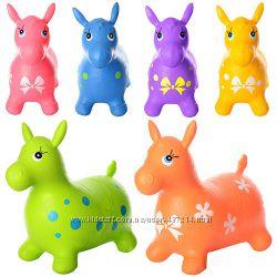 Прыгун лошадка ослик надувной MS 0372 для малышей разные цвета