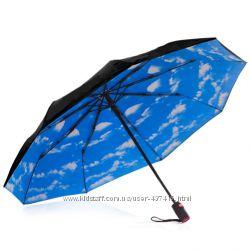 Женский зонт. Зонт автомат. Зонт голубое небо