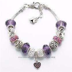 Женский браслет с шармами в стиле Pandora
