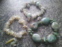 Браслеты из натурального камня  набор 3шт