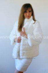 Элегантная свадебная шубка, прокат Киев