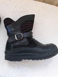 Ботинки зимние кожаные с натуральным мехом 29р, 16-17см