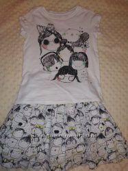 Комплект футболка и юбка Next